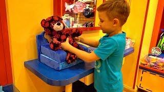 VLOG Build-a-Bear Workshop Диана и Рома делают игрушки