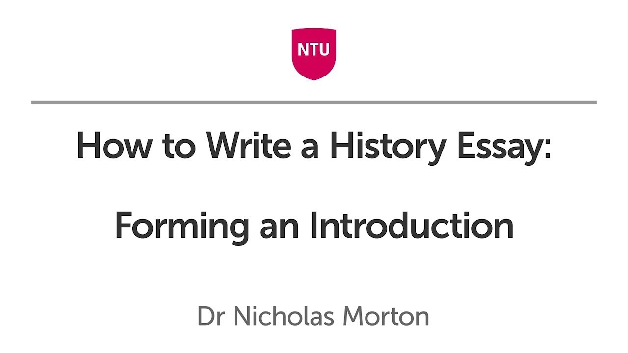 How to Write a History Essay: Forming a Structure