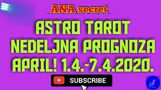 ASTRO TAROT NEDELJNA PROGNOZA APRIL! 1.4.-7.4.2020. #anasecret #horoskop #tarot