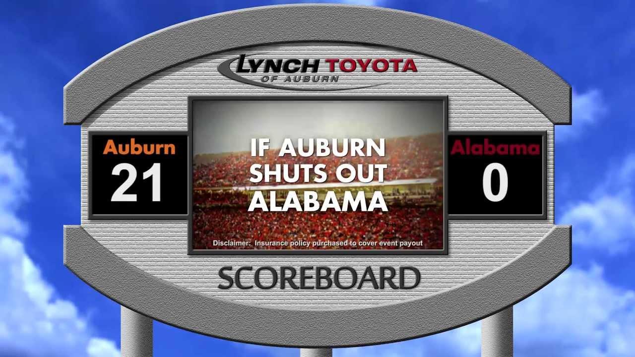 Auburn car dealership to give away free cars if Alabama is