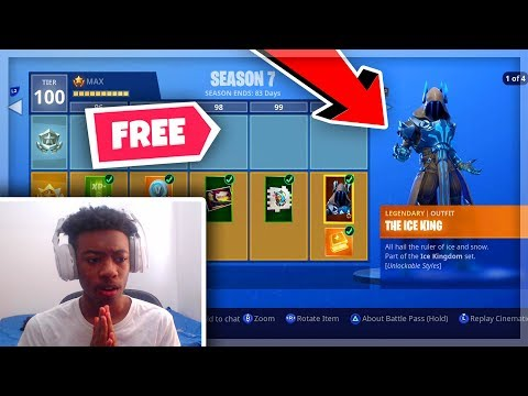 get all 100 tiers for FREE In SEASON 7 Fortnite Battle Royale