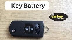 Key Battery Mazda Remote Key HOW TO change