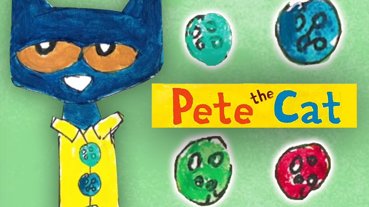 58c2ddf91403a PETE THE CAT & His Four Groovy Buttons | Book Trailer & Music Video -  YouTube