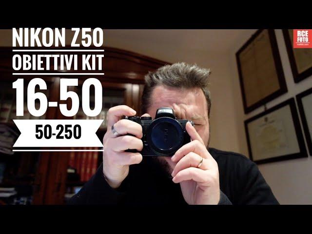 #nikon #nikonmirrorless #nikon z50 Nikon z50 con obiettivi Kit: 16-50 e 50 - 250
