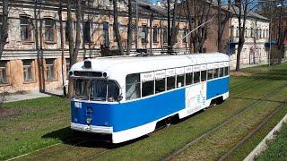 RVR TRAM IN DAUGAVPILS MAY 2017  / Трамвай РВЗ-6  в Даугавпилсе в мае 2017 года