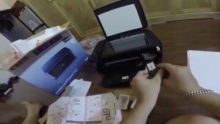 Unboxing Canon Pixma E560 WiFi multifunction printer and first impression