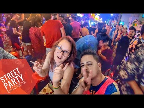 Thailand : Wildest Street Party in Bangkok Khao san road | Travel vlog by Indian 2019