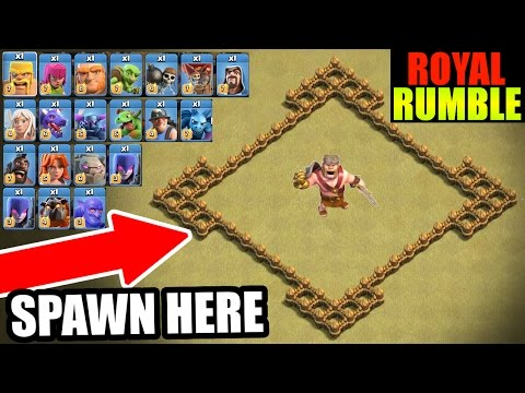 INSANE ALL TROOP ROYAL RUMBLE IN CLASH OF CLANS!!
