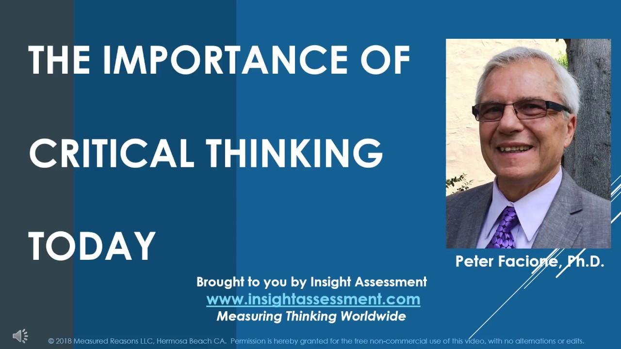 critical thinking peter facione