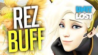 Overwatch - Mercy REZ Buffed (and INSANE Guardian Angel) + Lucio Wall Ride Buff...Nerf?
