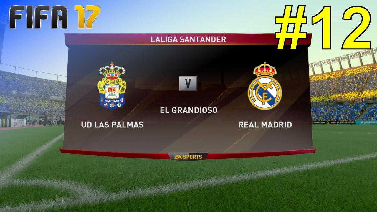 Fifa 17 Career Mode Real Madrid 12 Vs Ud Las Palmas Laliga
