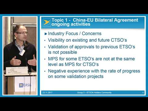 ETSO holders, Non EU DOAs & Conclusion - 2017 Product Certification & DOA Workshop