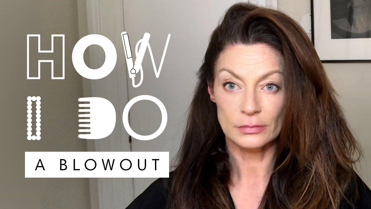 'The Flight Attendant' Star Michelle Gomez's Blowout Hair Tutorial   How I Do   Harper's BAZAAR