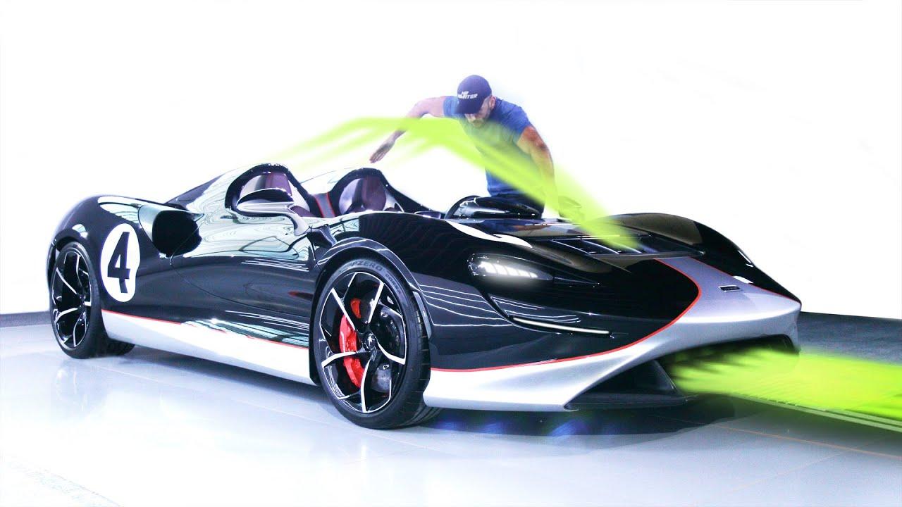 انظر كيف يعمل سقف مكلارن الوهمي! McLaren Elva