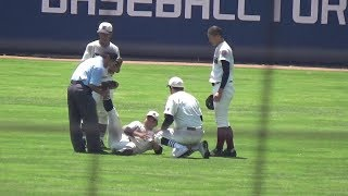 寝屋川の選手が足を攣る場面で真っ先に大阪桐蔭の選手が水分を渡す!&機敏過ぎて一際目立つボールボーイの動きもマジで必見!! thumbnail