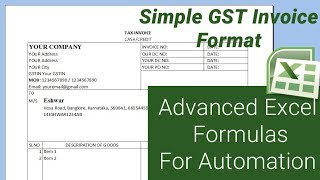 This tutorial shows the implementation of basic to advanced formulas and techniques create a simple gst invoice format. download format...