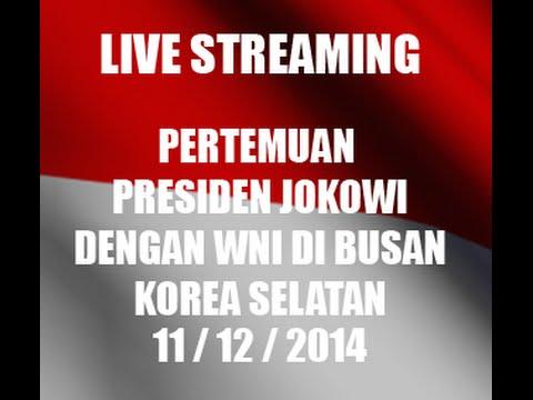 LIVE Pertemuan Presiden Jokowi dengan WNI di Busan (Bagian 1/2)