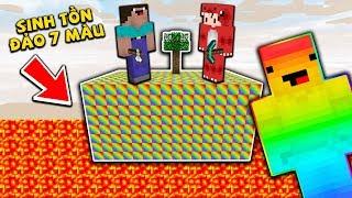 Rex Và Noob Thử Thách Sinh Tồn Trên Đảo 7 Màu Trong Minecraft Sẽ Như Thế Nào ??