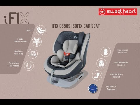 Sweet Heart Paris CS569 Car Seat Booster With ISOFIX Full Tutorial