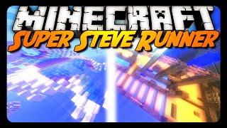 Minecraft: SUPER STEVE RUNNER! (Parkour Map)