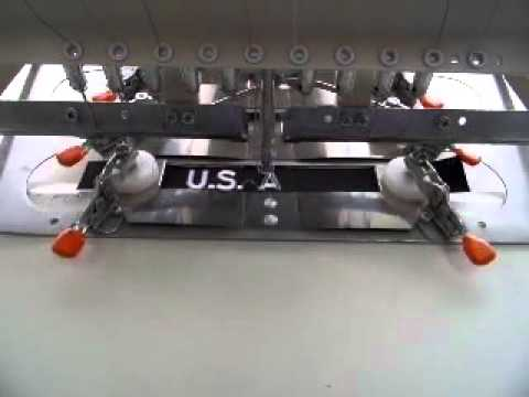 Military Name Tape Strips On Pfaff Fortron Embroidery Machine