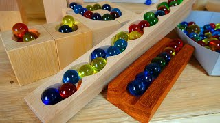 Marble Run ASMR ☆ Cuboro-like square wooden healing course