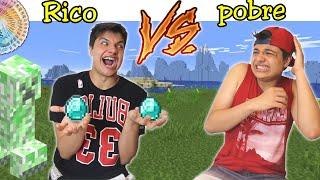 RICO VS POBRE #64 - DESAFIO NO MINECRAFT !!
