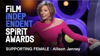 ALLISON JANNEY wins Best Supporting Female for I, TONYA at the 2018 Film Independent Spirit Awards