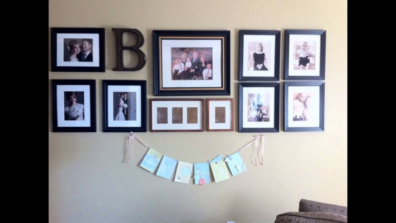 Simple Wedding Picture Hanging Ideas With Black Frame