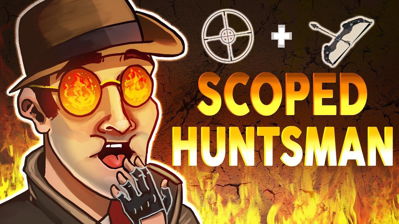 TF2 - Scoped Huntsman Exploit (Sniper update!)