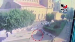 من كاميرا المراقبة.. لحظة انفجار الكنيسة البطرسية بالعباسية