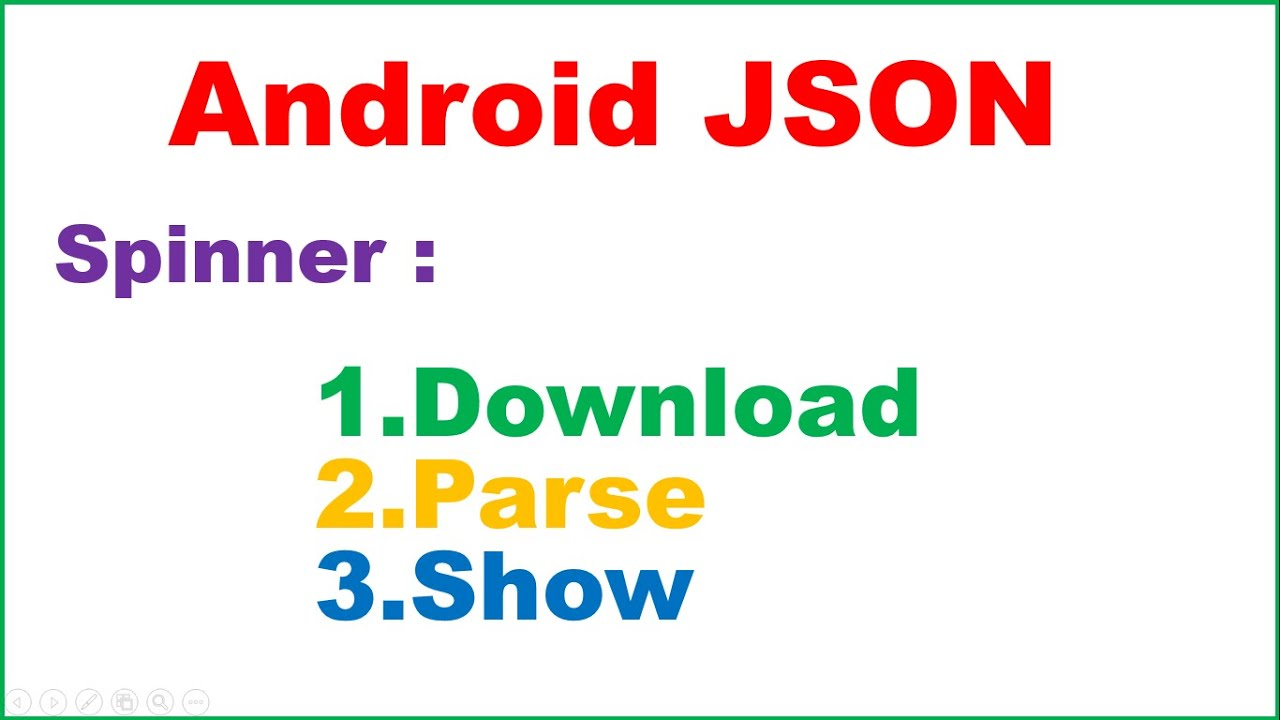Android Native JSON Ep.01 : Spinner - Download,Parse and Show ...