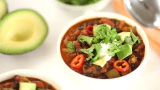 Quick Vegetarian Chili- Everyday Food with Sarah Carey