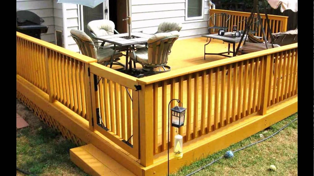 Backyard deck designs small deck designs backyard youtube for Backyard deck pictures
