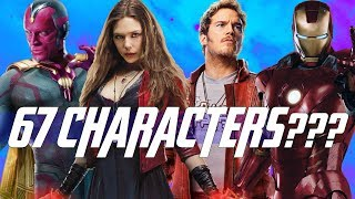 The Infamous 67 Characters of Avengers Infinity War & Avengers 4