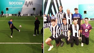 Newcastle United fans take on the Volley Challenge! | PLUS! Jose Enrique & Lou Sanders