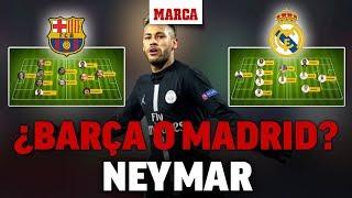 Fichaje Neymar: Barcelona o Real Madrid, ¿cómo encajaría en el sistema?I MARCA