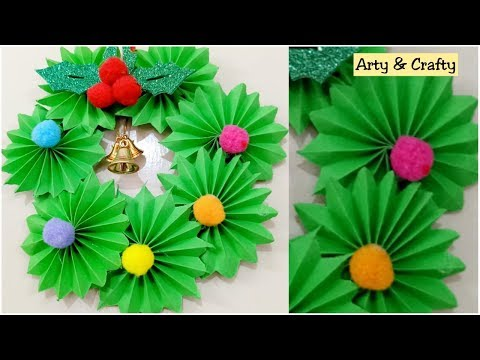 DIY Christmas Wreath /How to make Paper Wreath /Christmas Decorations /Paper Decoration