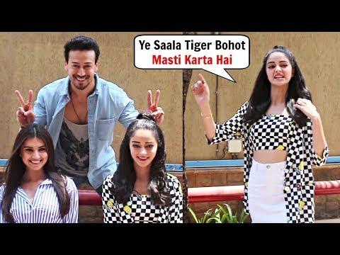 SOTY 2 Cast Masti Behind The Scenes - Tiger Shroff, Tara Sutaria And Ananya Pandey
