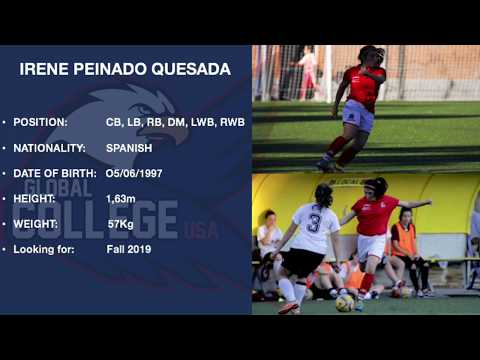 Irene Peinado - College soccer recruiting video Fall 2019