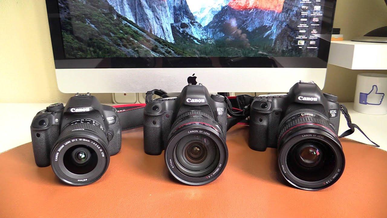 Canon eos 6d 5d mk iii 700d t5i comparativa for Canon 5d especificaciones