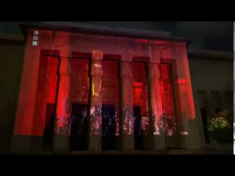 بث حفل -صوت الصمود- من بعلبك على جدران المتحف الوطني في بيروت #علّي_الموسيقى  - نشر قبل 2 ساعة