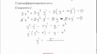 Как находить производную неявной функции - bezbotvy