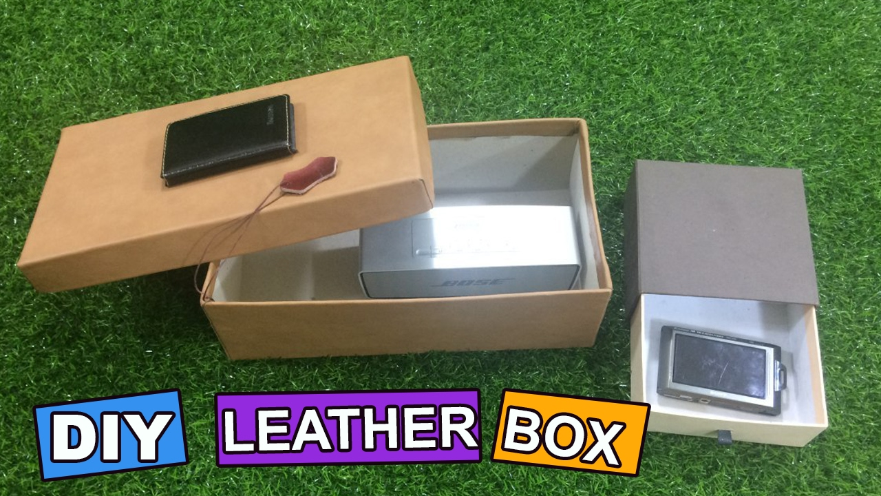 Diy How To Make Leather Shoe Box Crafts Ideas Youtube