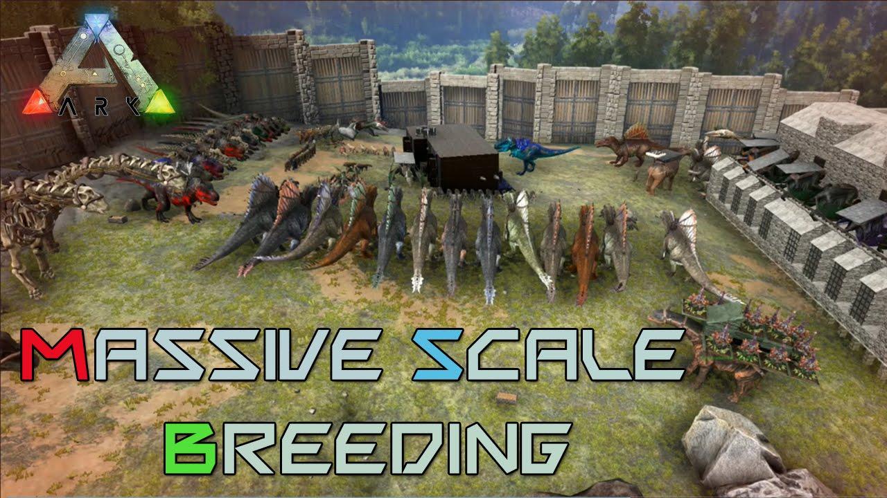 Ark massive scale breeding pen youtube ark massive scale breeding pen malvernweather Choice Image