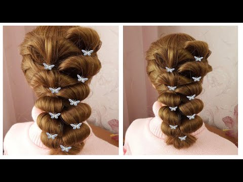 Amazing Bridal Hairstyle ❤️ Very Easy & Quick Tutorial ❤️ Coiffure simple pour soirée/mariage thumbnail