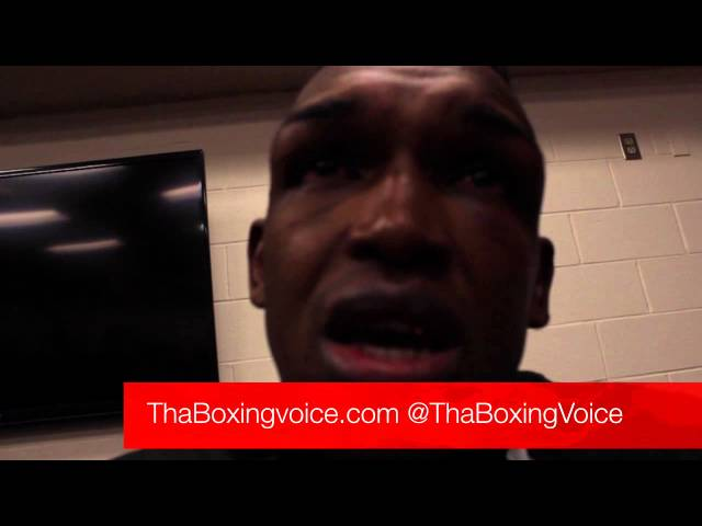 Tureano Johnson, Heart felt cry for rematch vs Stevens