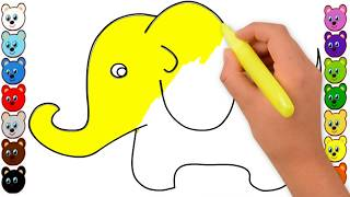 How to Draw and Color an Elephant for Kids