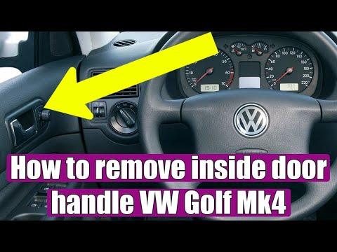 How To Remove Interior Door Handle Vw Golf Mk4 Bora Jetta In 3 Steps Youtube