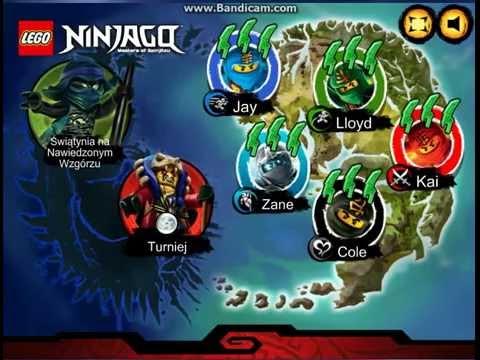 Gry Lego Ninjago rush turniej i świątynia na nawiedzonym wzgórzu